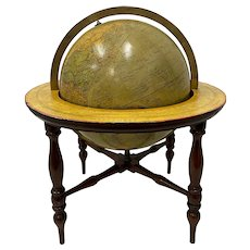 Vintage Merzbach and Falk Terrestrial Globe on Stand