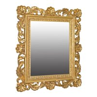 Baroque 18th to 19th Century Monumental Hand Carved & Gilded Mirror