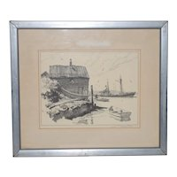 Gordon Hope Grant Pencil Signed Lithograph c.1930s