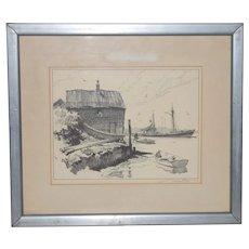Gordon Hope Grant Pencil Signed Lithograph c.1930s