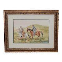"J. Thomas Soltesz (American, b.1955) ""The Couriers"" Original Watercolor"