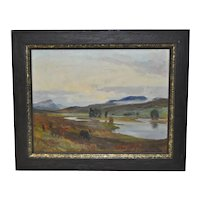 "Lionel Edwards ""Glenmoriston  - Scottish Highlands"" Original Oil Painting c.1960"
