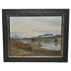 "Lionel Edwards ""Glenmoriston  - Scottish Highlands"" Original Oil Painting c.1960"