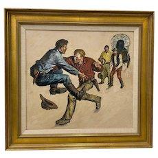 "Amos Sewell (1901-1983) ""Prairie Schooner"" Original Saturday Evening Post Illustration c.1950s"