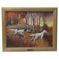 "John Lawrence Murray ""The Hunt"" Original Oil Painting c.1941"