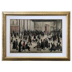 "Laurence Stephen Lowry (1887-1976) ""Punch & Judy"" Color Lithograph c.1943"