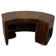 French Art Deco Semicircular Walnut Desk c.1930