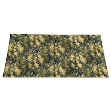 Large Textile Upholstery Fabric w/ European Classical Green Leaves Foliage Pattern