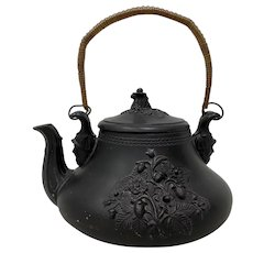 Mid 19th Century Terra Cotta Teapot by Paul Gerbing FGW, Germany