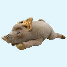 Vintage Steiff Plush Pig Stuffed Animal