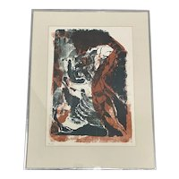 """Vintage """"Hands"""" Limited Edition Lithograph by H. King c.1969"""