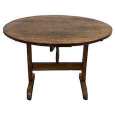 19th Century French Tilt Top Tavern or Wine Table
