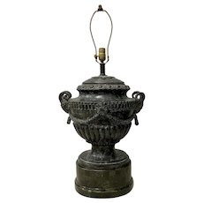 Patinated Cast Bronze Urn Table Lamp by Maitland  Smith c.1960