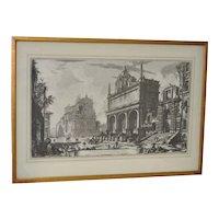 "Giovanni Battista Piranesi (1720-1778) Etching ""Views of Rome"""