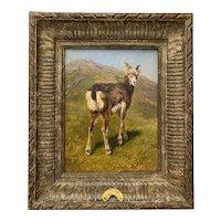 "Rosa Marie (Rosalie) Bonheur ""Mountain Kid"" Original Oil Painting c.1880"