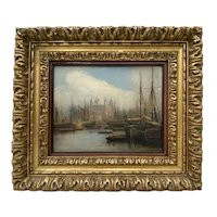 Mid 19th Century Nautical View of the River Thames, London c.1850