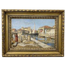 Antique Oil Painting by Heuss