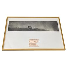 Ed Ruscha Signed Exhibition Poster c.1970