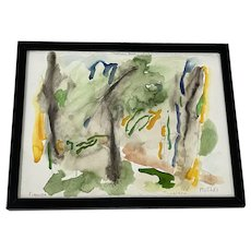 """Jack Roth """"Firenzie"""" Original Abstract Watercolor c.1981"""