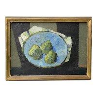 """Ivar Morsing (Sweden, 1919-2009)""""Pears"""" Still Life Oil Painting c.1950"""