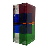 Vasa Velizar Mihich Mid Century Laminated Cast Acrylic Block c.1970s