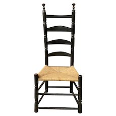 18th to 19th Century American Ladder Back Chair