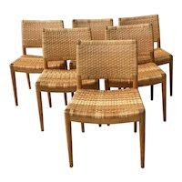 Set of Six Hans Wegner for Johannes Hansen Danish Modern Dining Chairs c.1960