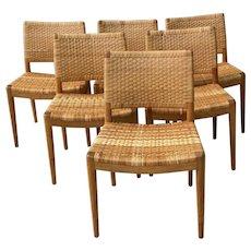Set of Six Hans Wegner for Johannes Hansen Danish Modern Dining Chairs c.1960