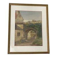 William Whittemore Original Watercolor c.1930