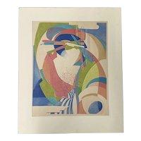 "Stanton Macdonald-Wright ""Departing Spring"" Woodblock c.1966"