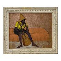 "Jon Cornin ""Study w/ Guitar"" Original Painting c.1942"