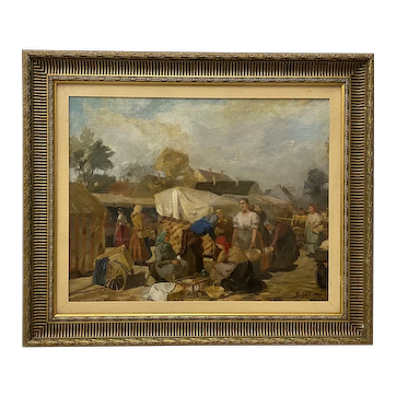 Lajos Szanto (1889-1965) Original Oil Painting c.1930s
