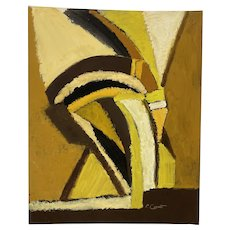 1970s Abstract Oil Painting by San Francisco Artist Phyllis Ciment