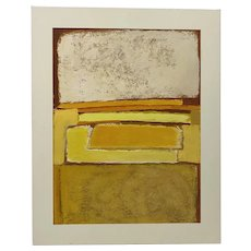 Phyllis Ciment Mid Modern Abstract Oil Painting c.1970