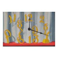 John Axton Fine Art Painting Clock