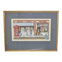 Vintage Watercolor - Ice Cream Parlor