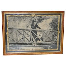 Late 19th / Early 20th Century Charcoal Drawing c.1900