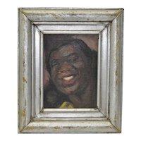 "Geneve Rixford Sargent Oil Painting ""Dinah Washington"" c.1950"