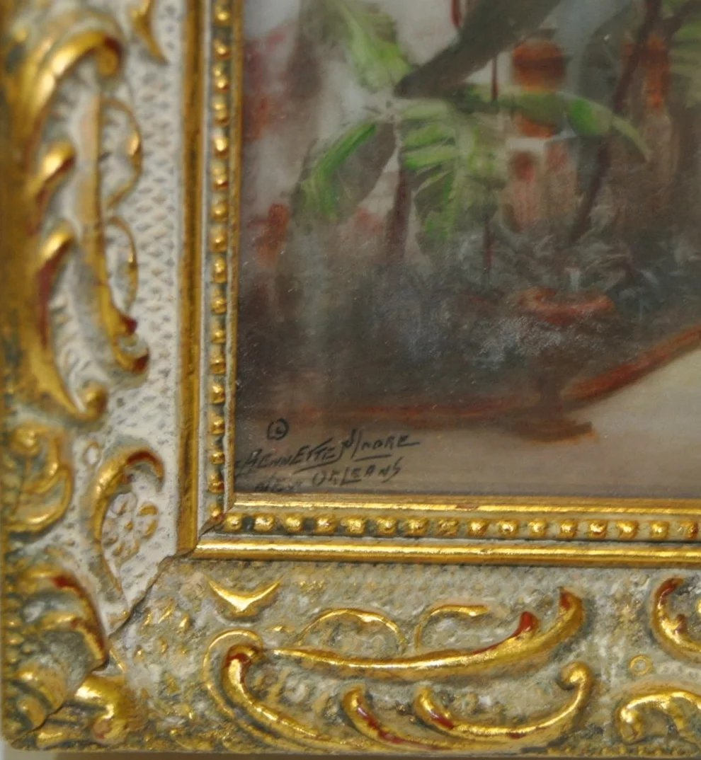 C Bennette Moore Hand Painted New Orleans Photograph