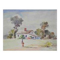 Joseph Hirsch Vintage Watercolor c.1940's