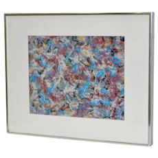 Paul SLAPION Mixed Media Painting c.1985