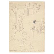 Helen FORBES (1891-1945) Vintage Sketch c.1940