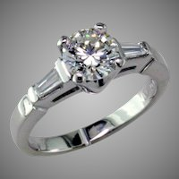 Classic 1 ct Diamond Platinum Engagement ring