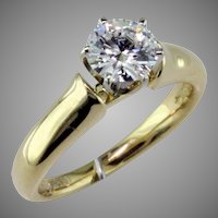 1 ct D Internally Flawless Diamond 18 Karat Gold Solitaire Ring