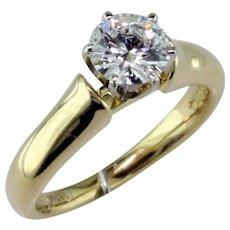 1 ct D Internally Flawless Diamond 18 Karat Gold Solitaire Ring