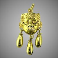 Mixtec 14K Gold Pendant