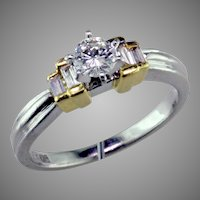 Platinum & 18K Engagement Ring