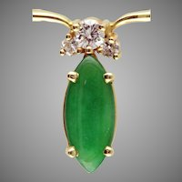 Imperial Jadeite & Diamond 14 Karat gold necklace