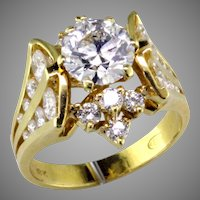 Stunning Lazare Kaplan 1.37 ct Diamond in 18K Designer Ring