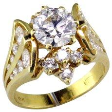 Stunning Lazare Kaplan 1.37 ct Diamond in 18K Designer Ring